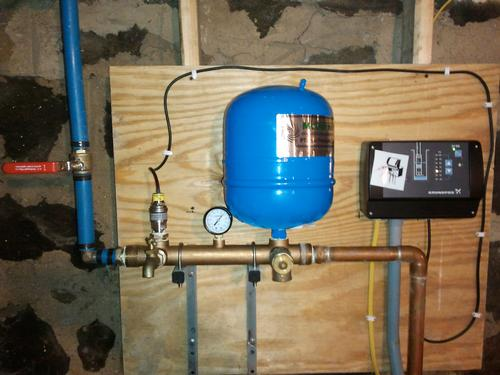 Constant Pressure Pump Installation